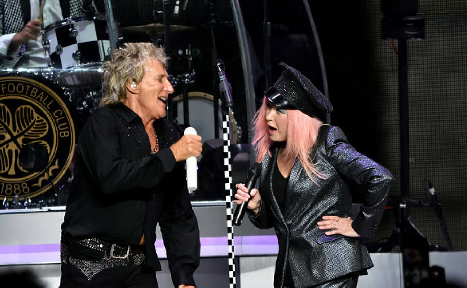 Rod Stewart and Cyndi Lauper perform in concert at Northwell Health at Jones Beach Theater on July 18, 2017 in Wantagh, New York. (Getty Images)