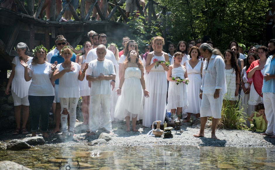 Devotees of ancient Greece's religion and culture gather each July by Mount Olympus to hold a series of events, ceremonies and seminars. AP