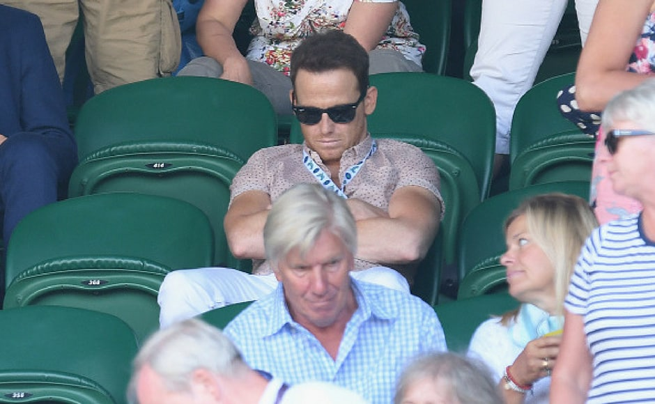 Joe Swash attends day six of the Wimbledon Tennis Championships at the All England Lawn Tennis and Croquet Club on July 8, 2017 in London, United Kingdom. (Getty Images)