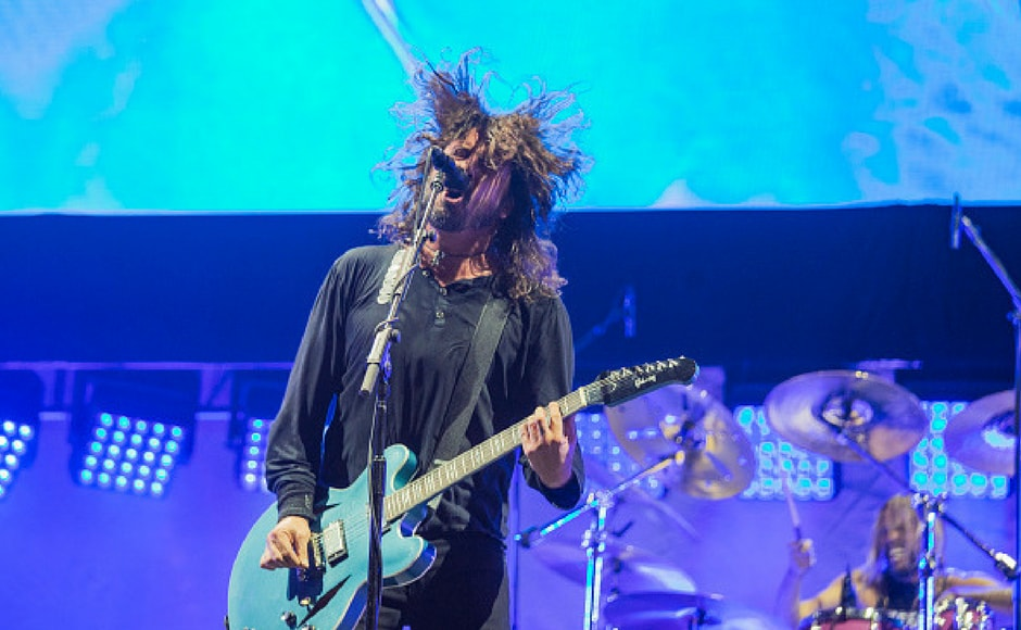 Dave Grohl of Foo Fighters performs on the NOS stage during day 2 of NOS Alive on July 7, 2017 in Lisbon, Portugal. (Getty Images)
