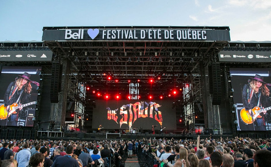 The Struts perform at Festival d'ete de Quebec in Quebec City, Canada. (Getty Images)