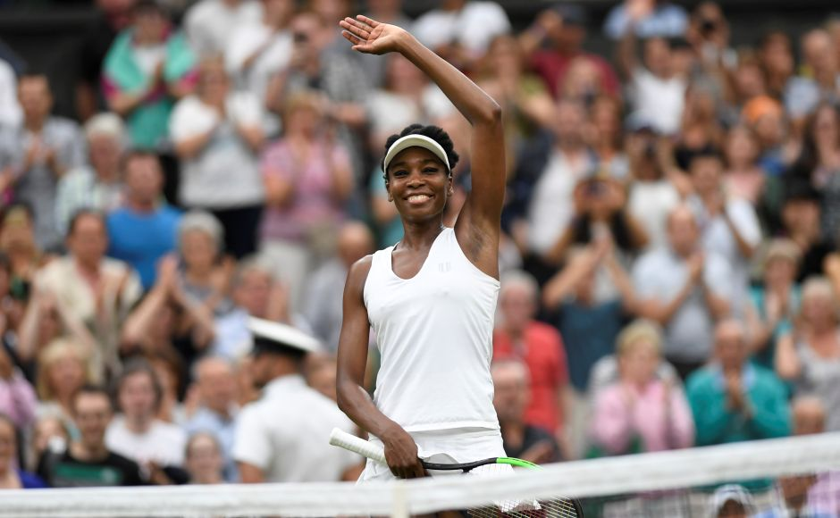 Venus Williams beat Jelena Ostapenko 6-3, 7-5 on Tuesday to become the oldest women's semi-finalist for 23 years. Reuters