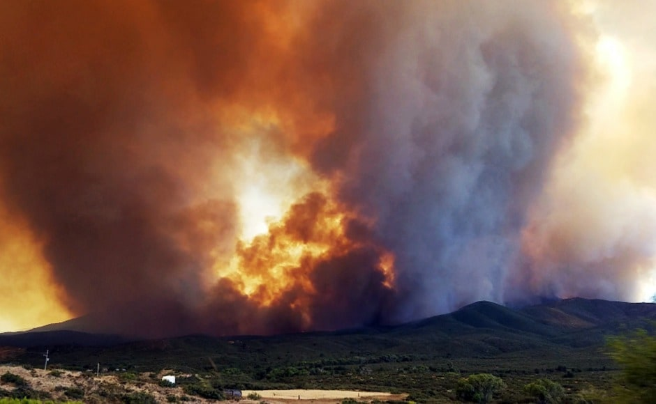 Around 220 wildfires are currently burning across British Columbia. Officials said 97 were sparked on Saturday alone. AP