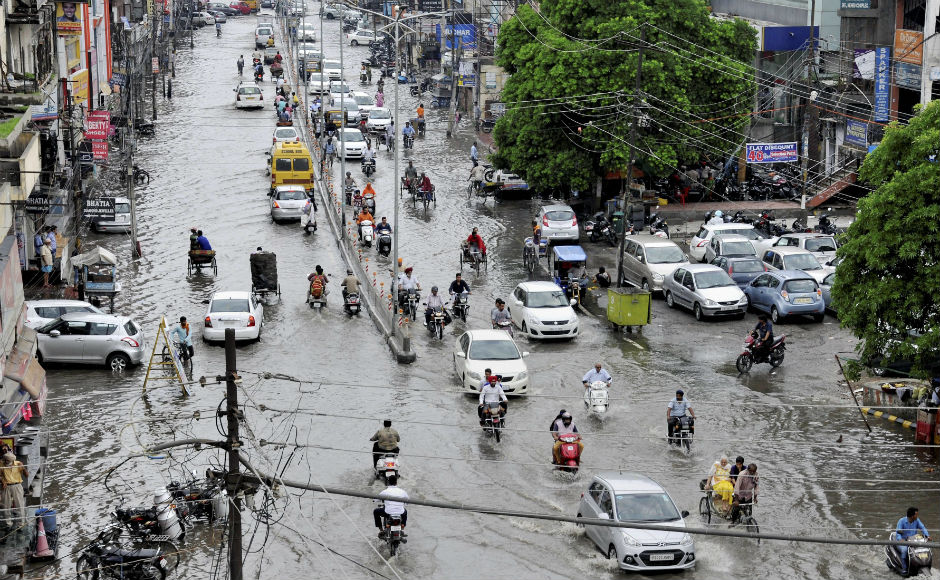 Not only Gujarat, but heavy downpour affcted lives across the country, with waterlogging being reported in Punjab, Bihar and Uttar Pradesh. PTI
