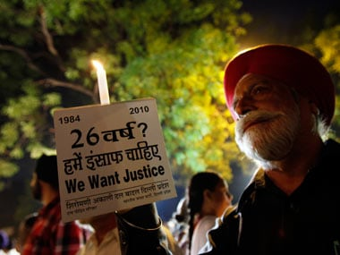 File image of people demanding justice the 1984 anti-Sikh riots. Reuters