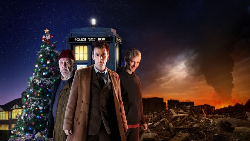 Bernard Cribbins, David Tennant and John Simm in Doctor Who: The End of Time. Image via Flickr/CC