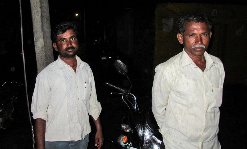 Vikas Patade and his brother Shivaji, farmers, Kamtha village, Osmanabad. Photo courtesy: Parth MN