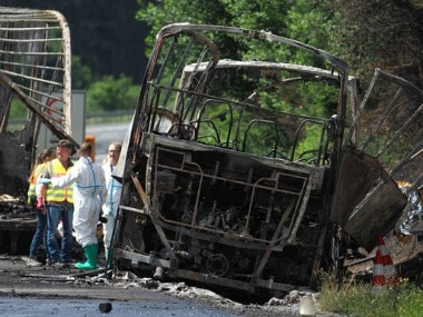 Germany bus accident: 18 dead, 30 injured as coach bursts into flames after collision in Bavaria