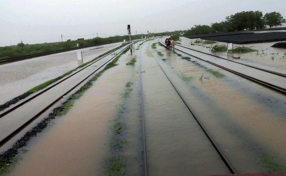 Rail and road traffic in Saurashtra region were disrupted as over a dozen state highways were affected and several trains cancelled due to waterlogging in Maliya Miyana town of Morbi district which threw normal life out of gear. PTI