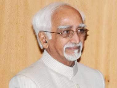 File image of Hamid Ansari. PIB