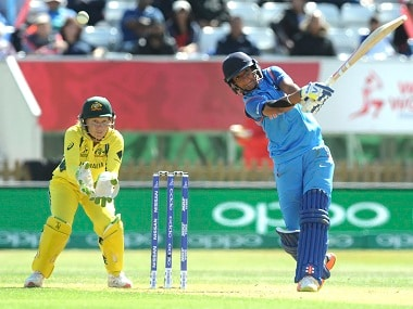 Harmanpreet Kaur plays a shot during her knock of 171 not out. AP