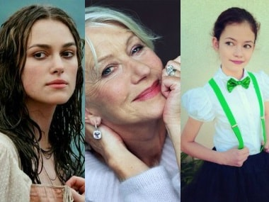 Keira Knightley, Helen Mirren and . Images from Twitter