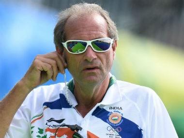 File photo of India hockey coach Roelant Oltmans. AFP