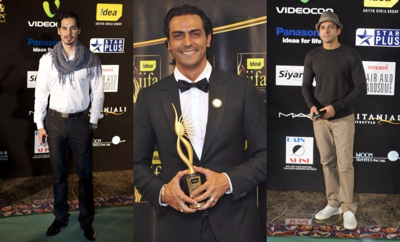 Dino Morea-Arjun Rampal-Farhan Akhtar. Images from Getty Images.