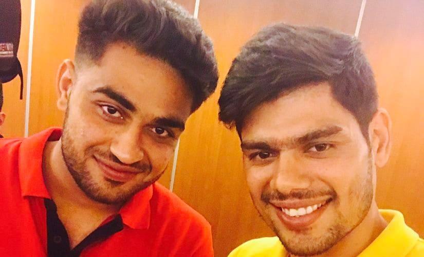 Ajay Kumar and Rohit Kumar of Bengaluru Bulls