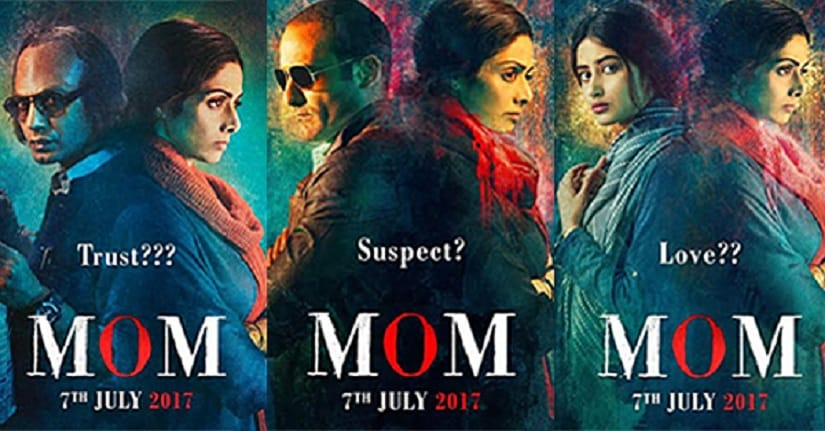 Posters of Sridevi-starrer MOM. Images via Twitter