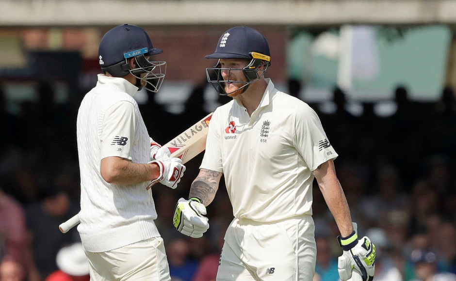 England's innings stabilised with a 114-run partnership between captain Joe Root and Ben Stokes(R). AP