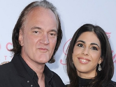 Quentin Tarantino and fiance Daniela Pick. Image from Twitter.