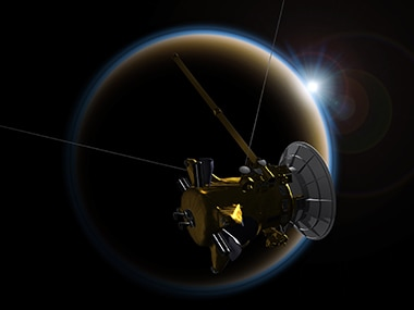 NASAs Cassini spacecraft finds molecules that may be the building blocks of life, on Titan