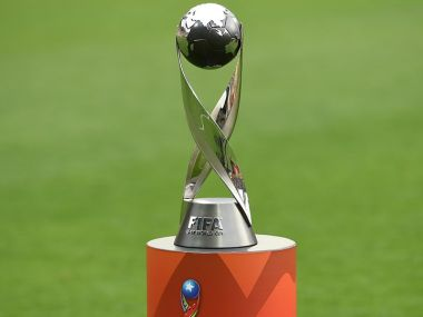 The U-17 World Cup trophy that 24 teams will be competing for in October. Image courtesy: FIFA