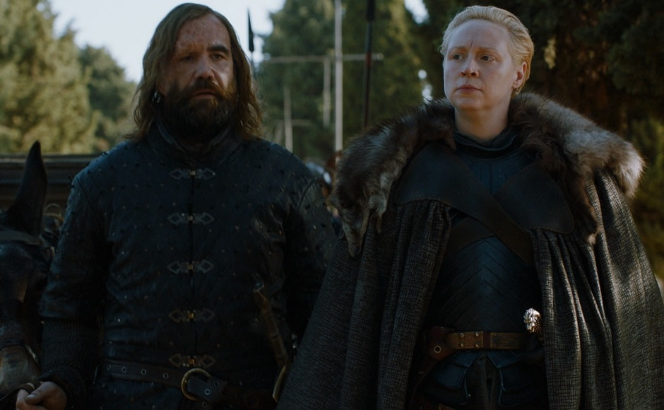 Sandor 'The Hound' Clegane and Brienne. Image via HBO