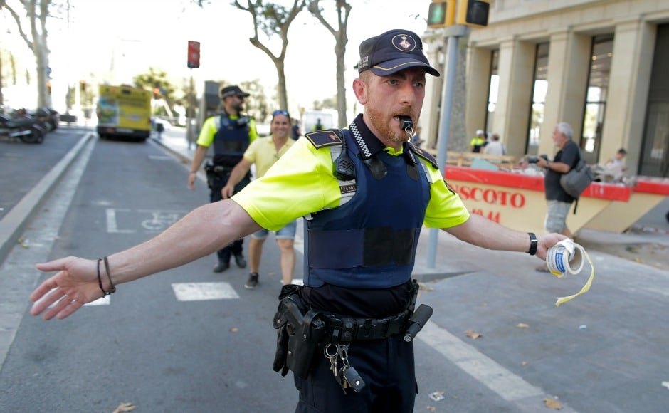 Catalan emergency services said people should stay away from the area, while police cordoned it off. AP