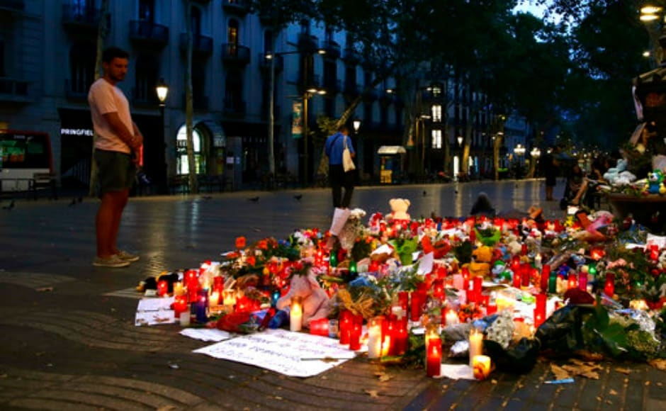 Fourteen people were killed and more than 100 injured on the famous Las Ramblas when a suspected terrorist ploughed a rented van through crowds of tourists. AP