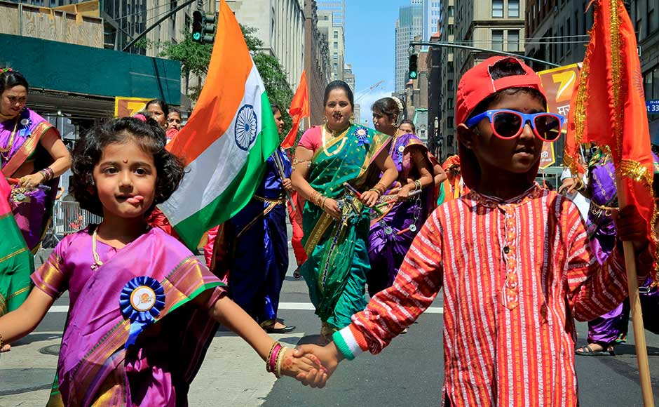The Indian Independence day is celebrated with great fervour in the US where a large number of Indian-origin people gather in the city and participate in celebrations. AP