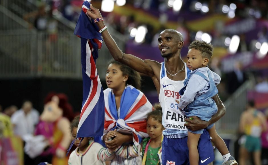 Britain's Mo Farah won his 10th straight global long-distance title, taking gold in the 10,000 meters at IAAF World Athletics Championships 2017 in the same stadium where he won his first Olympic title. AP