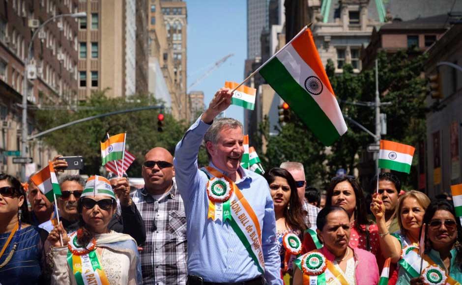 New York City Mayor Bill de Blasio said that the parade cherishes the