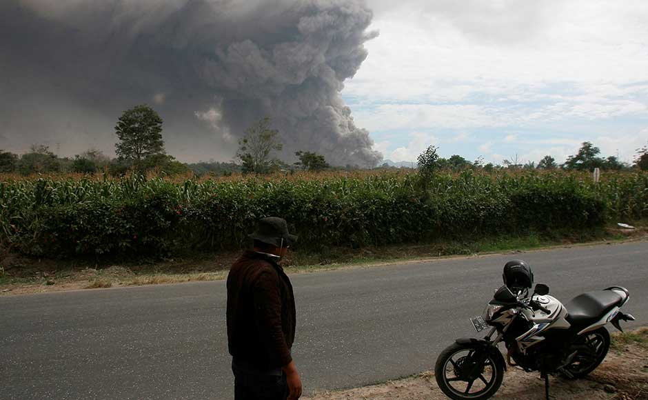 National Disaster Mitigation Agency spokesman Sutopo Purwo Nugroho said thousands of people in 10 villages were directly affected by ash fall from the latest eruption. He warned villagers to stay out of a danger zone that extends as far as seven kilometers from the peak. Reuters