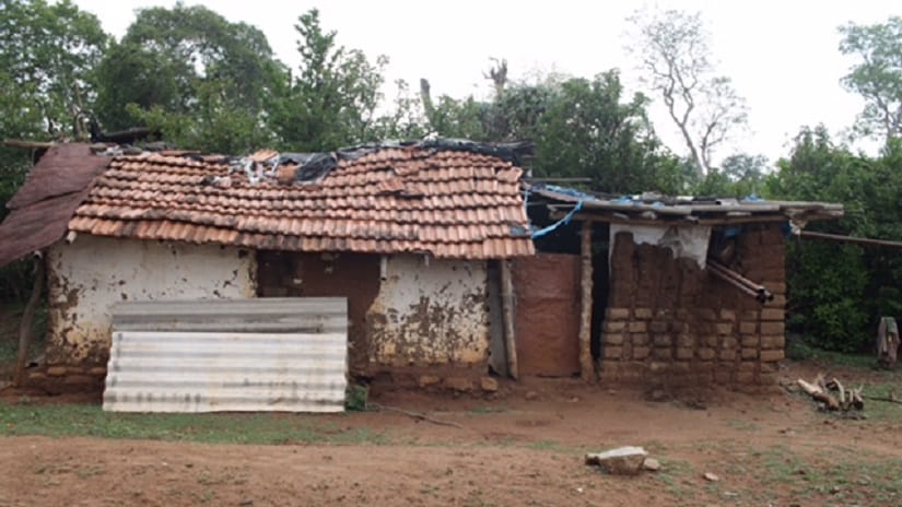 5. A Betta Kurumbar tribal home in a dilapidated condition at the village of Bokkapuram near the Mudhumalai Tiger Reserve in the Nilgiris. Photo: Sibi Arasu