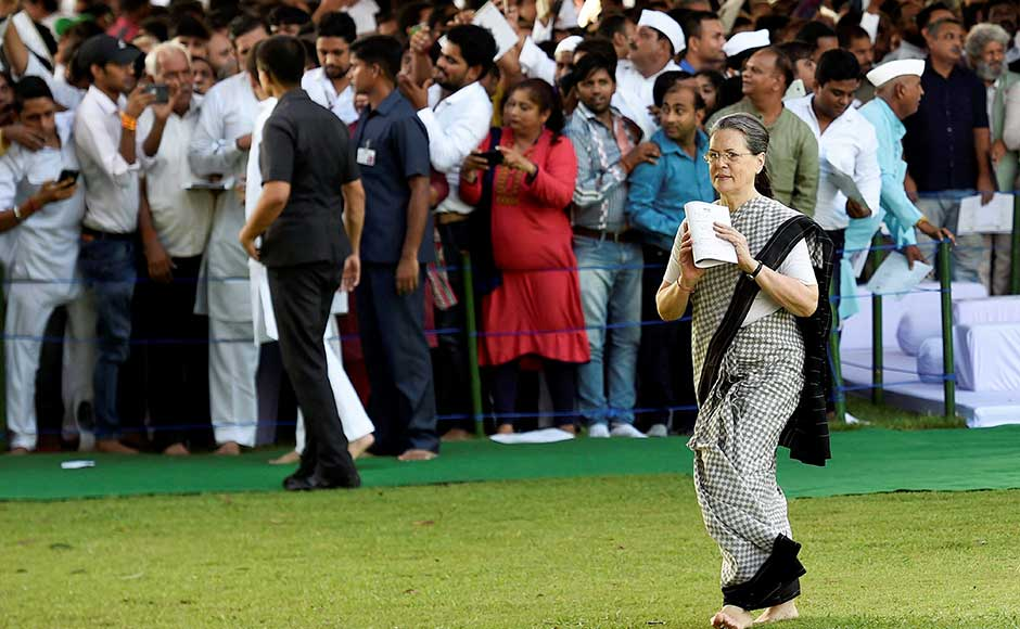 Leaders of Congress and many other parties, like V Narayanasamy, Mamata Banerjee, Ashok Gehlot and Captain Amarinder Singh, also joined the Gandhi family in offering their wishes. PTI
