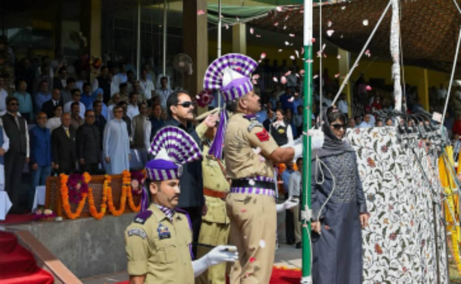 Jammu and Kashmir chief minister Mehbooba Mufti unfurled the tricolour at Bakhshi Stadium in Srinagar. In her address, Mufti said she has faith in the judiciary to dismiss the challenge to Jammu and Kashmir's special status. PTI