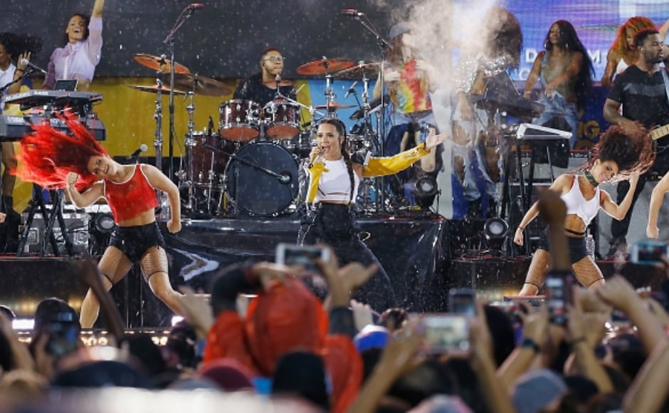 The performance took place on 18 August. Image from Getty Images.