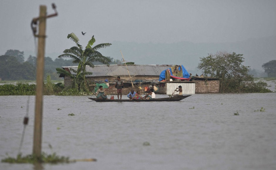 In Assam, the flood situation continues to deteriorate in 25 districts. The floods have claimed 123 lives so far, while 33.45 lakh remained affected. AP