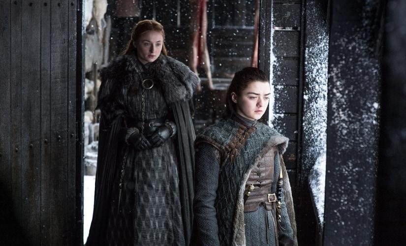 Arya and Sansa Stark. Image from Twitter