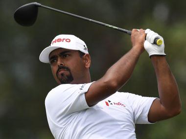 Indian golfer Anirban Lahiri. AFP