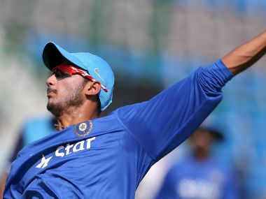 India's Axar Patel bowls in the nets during a practice session ahead of their first one-day international cricket match against South Africa in Kanpur, India, October 10, 2015. REUTERS/Adnan Abidi - RTS3UJ5