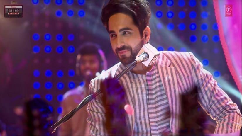 Ayushmann Khurrana on T-Series Mixtape Season 1 finale. Screen grab from YouTube.