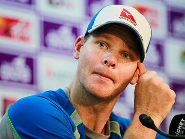 Australia Test captain Steve Smith speaks during a news conference in Dhaka. AP