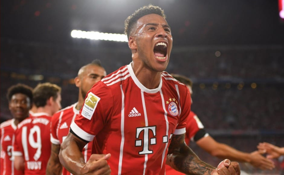 Frenchmidfielder Corentin Tolisso scored on his Bayern Munich debut at the Allianz Arena, making it 2-0.Image Courtesy: Twitter @FCBayern