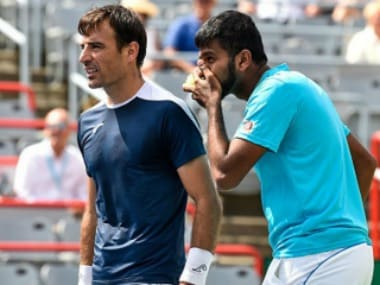File photo of Rohan Bopanna and Ivan Dodig. Getty Images