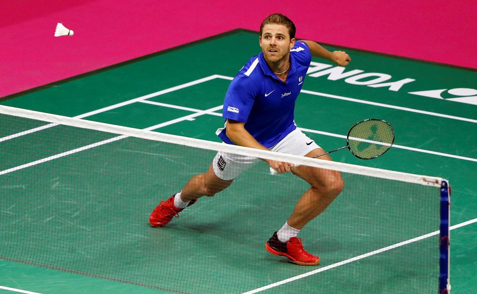 France's Brice Leverdez caused the upset of the World Badminton Championships when he beat favourite Lee Chong Wei. Reuters
