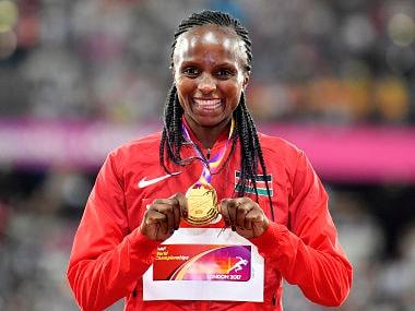 IAAF World Athletics Championships 2017: Kenyas Hellen Obiri wins womens 5000m with burst in final lap