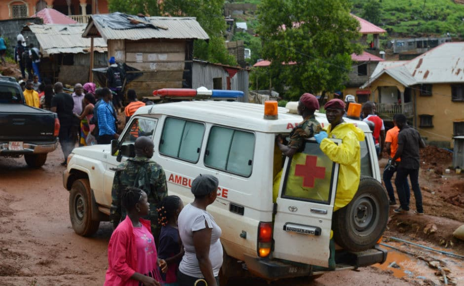 Military personnel have been deployed to help in ongoing rescue operations. President Ernest Bai Koroma has declared a week-long mourning period in the country starting Wednesday and says that unidentified corpses will be given a