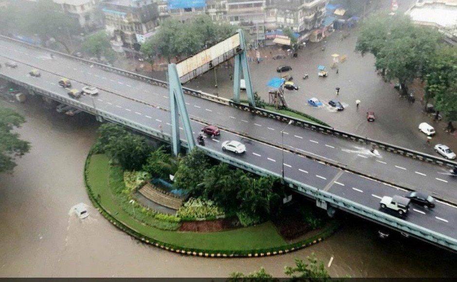 In three hours between 8.30 am and 11.30 am, Dadar recorded 115 mm of rain and Mahalaxmi 105 mm. Heavy rains are expected to continue until Thursday. Firstpost image
