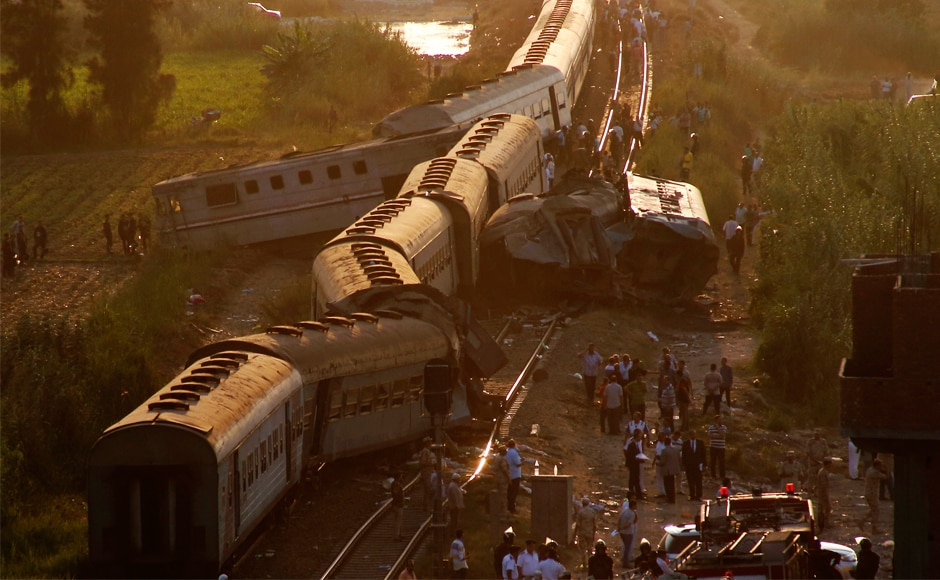 Egypt rail accident: 41 killed, 132 injured as two trains