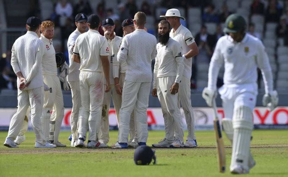 Moeen Ali removed Quinton de Kock and Theunis de Bruyn in the space of three balls in his next over. AP