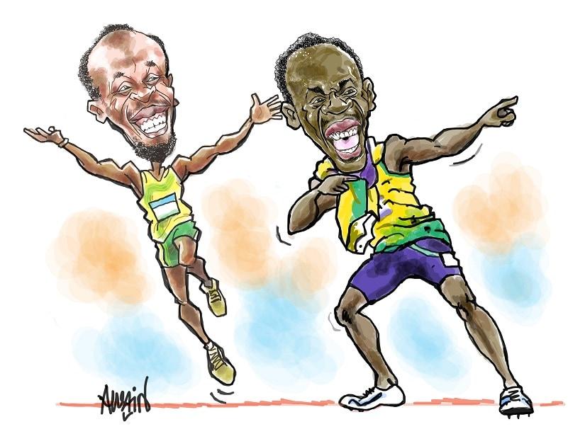 Usain Bolt. Illustration courtesy Austin Coutinho